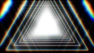 Infinite triangle tunnel video