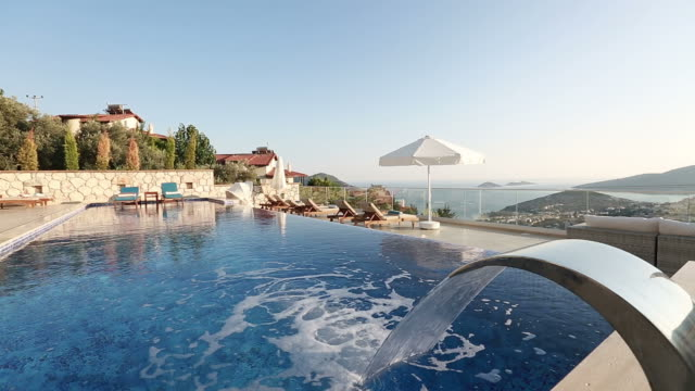 Infinity pool and waterfall jet SPA video