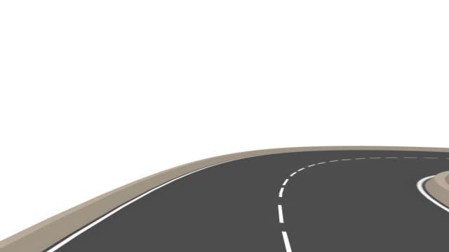 Infinity road, HD, Loop/Cycle video
