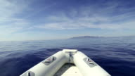 Inflatable Boat at sea video