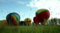 Inflating a hot air balloons video