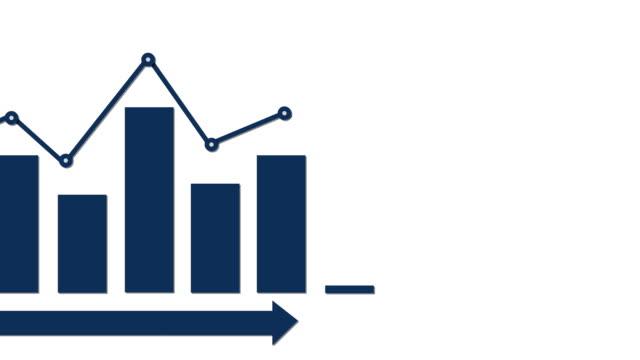 Infographic blue bar graph video