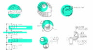 Infographic Elements In The Line Style. Blue Spot video