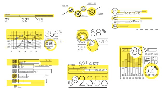Infographic Elements In The Line Style. Yellow Spot video