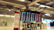 information arrival departure board at airport video