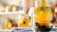 Infused Water with Fresh Blueberries and Oranges video
