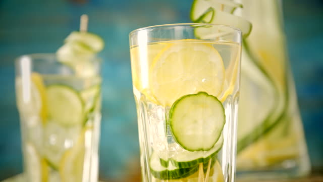 Infused Water with Fresh Cucumber and Lemon video
