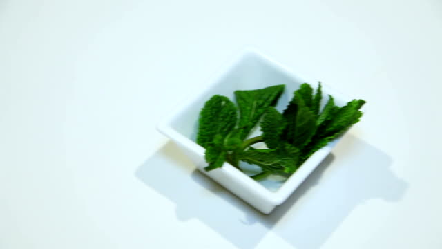 Ingredients for a sweet dessert. Mint video
