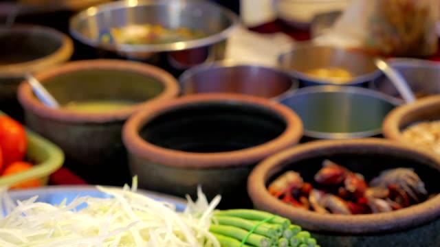 ingredients for Som tam or Som tum (Thai papaya salad) video
