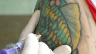Injection vaccine , close-up , 4k resolution (UHD) video