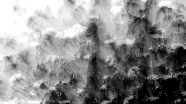 Ink blot on paper video