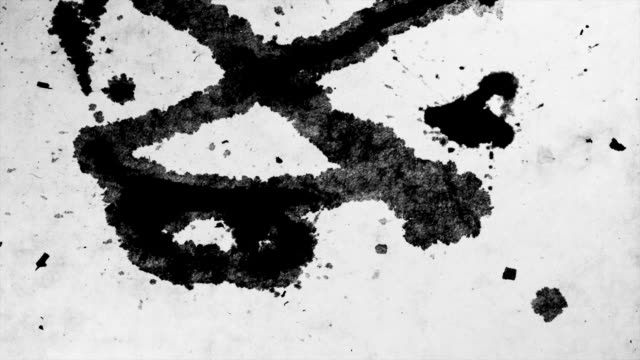 iNK BLOT ON PAPER-TIME LAPSE-1080HD video