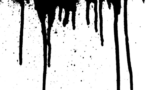 Ink Drips and Splatter video