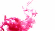 Ink of blood in water isolated background video