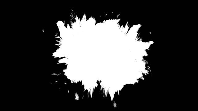 ink splattering and washing on black background, ink splatter video