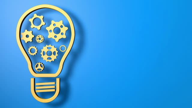 Innovation and Invention Background Light Bulb video