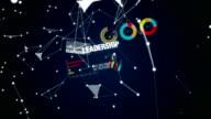 Innovation, Development, Teamwork, Leadership, Customer, Text animation 'VISION' video