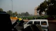 Inside a Bus in New Delhi Traffic video