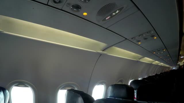 Inside a passenger plane video
