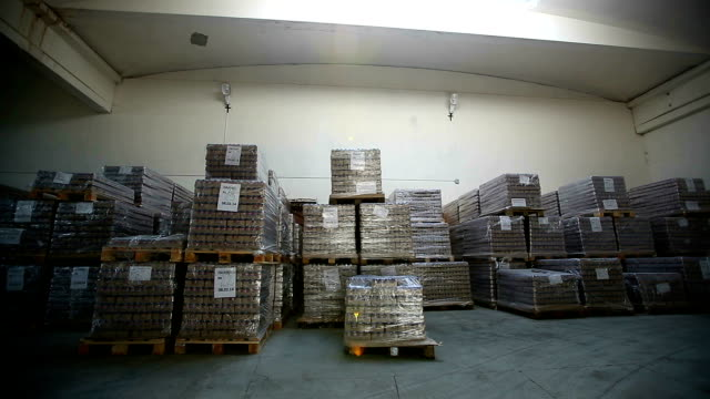 Inside a storage warehouse. video