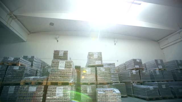 Inside a storage warehouse. video