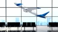 Inside airport terminal video