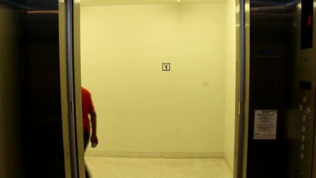 Inside Elevator and Doors open video