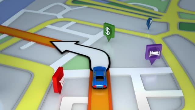 Inside GPS animation. Gray and orange. video