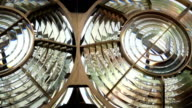 Inside Lighthouse - Close up of Light Moving video