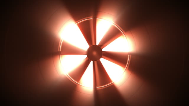 Inside of a steel ventilation tube pipe. Loopable CG. video