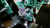 Inside old aircraft cabin video