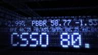 Inside Stock Market Tickers. Loopable. Blue video