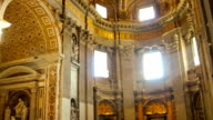 Inside the Basilica of St Peter in Vatican, Rome video