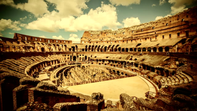 Inside the Coliseum of Rome Timelapse video