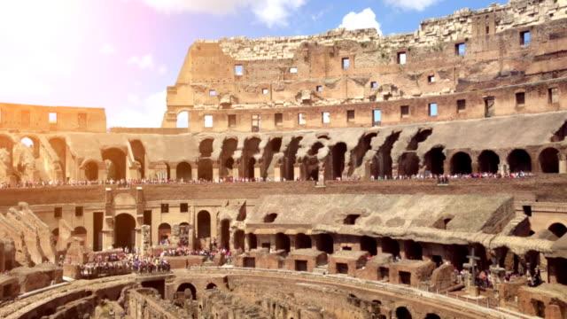 Inside the Coliseum of Rome video