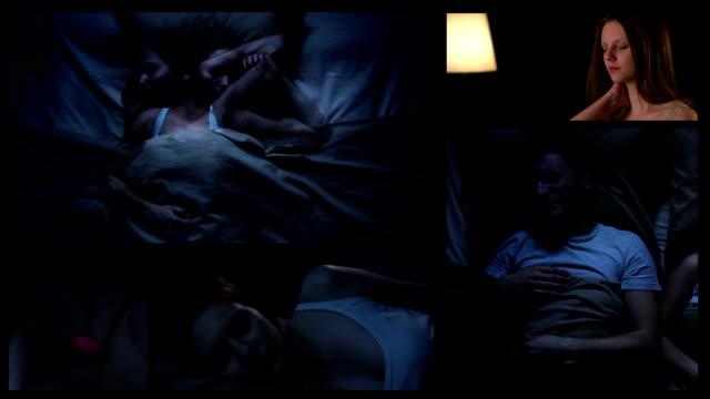 Insomnia. Split screen. video
