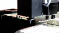 Installation of components on the printed circuit Board of a robot manipulator video