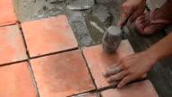 Installing Floor Tile video