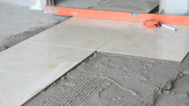 Installing Tiles floor video
