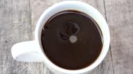 Instant Black Coffee Preparation_HD video