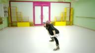 instructor of hip hop dance video