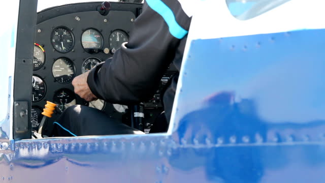 Instrument Panel of a Small Airplane video
