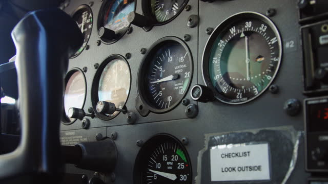 Instrument Panel on Light Aircraft video