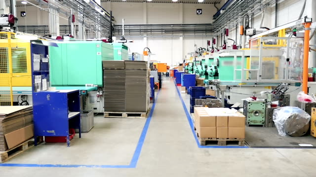 Intensive production line - injection molding video