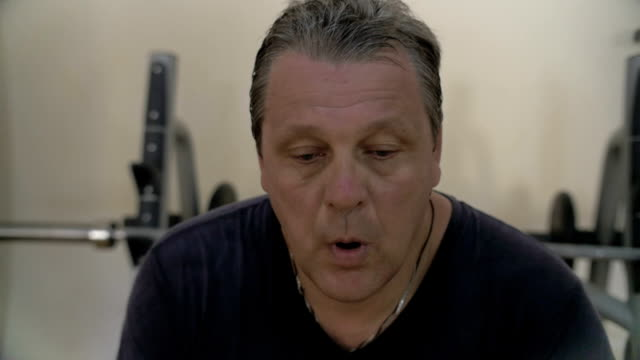 Intensive training made him sweaty and tired video