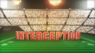 Interception! Football Animation With Alpha video