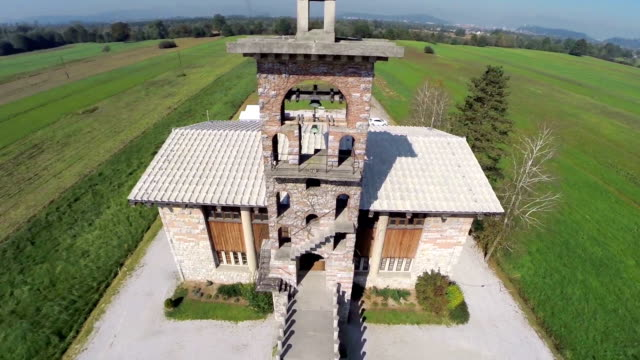 Interesting architectural building of a church video