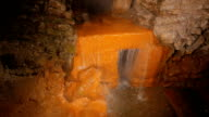 Interior closeup shot of an ancient Roman thermal spa in Bath, UK video