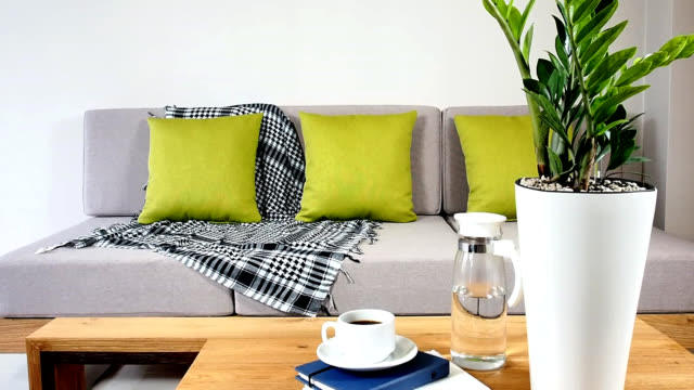 Interior design of couch in Living room video