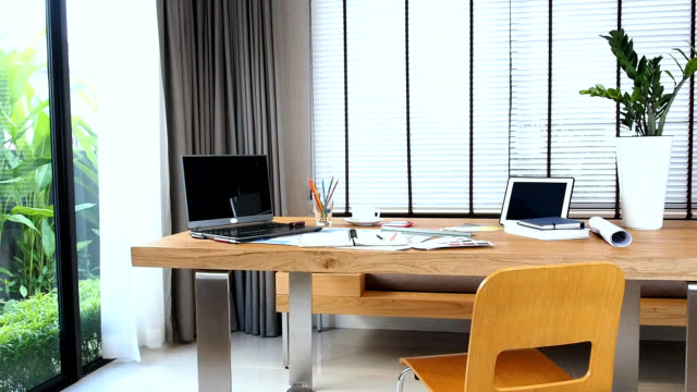 Interior design of creative working table video